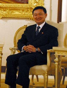 Thaksin Shinawatra, prime minister of Thailand...