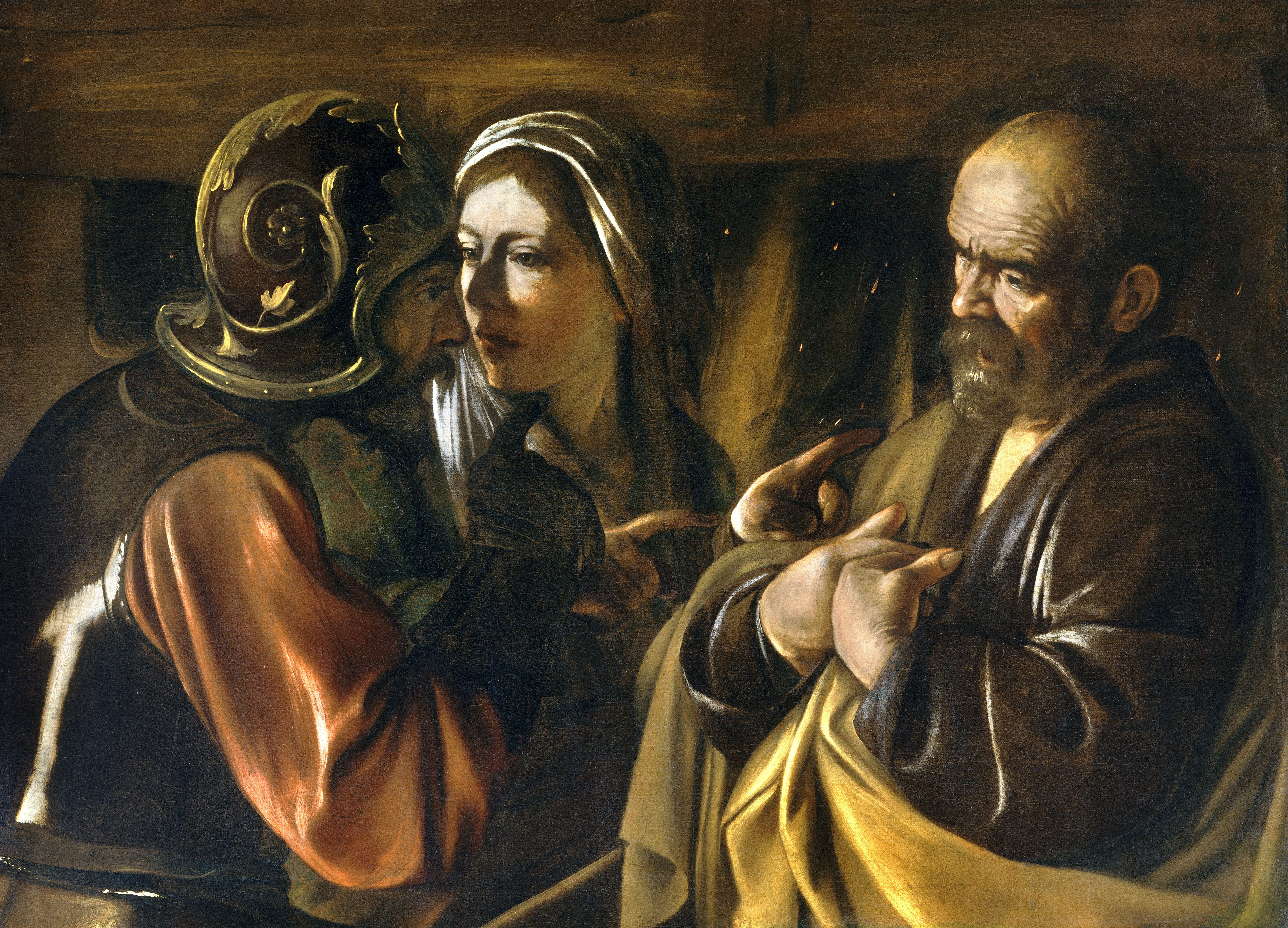 denial st peter caravaggio 1610 was the last year of caravaggio's life in that final year, he painted the  denial of saint peter the painting usually hangs at the.