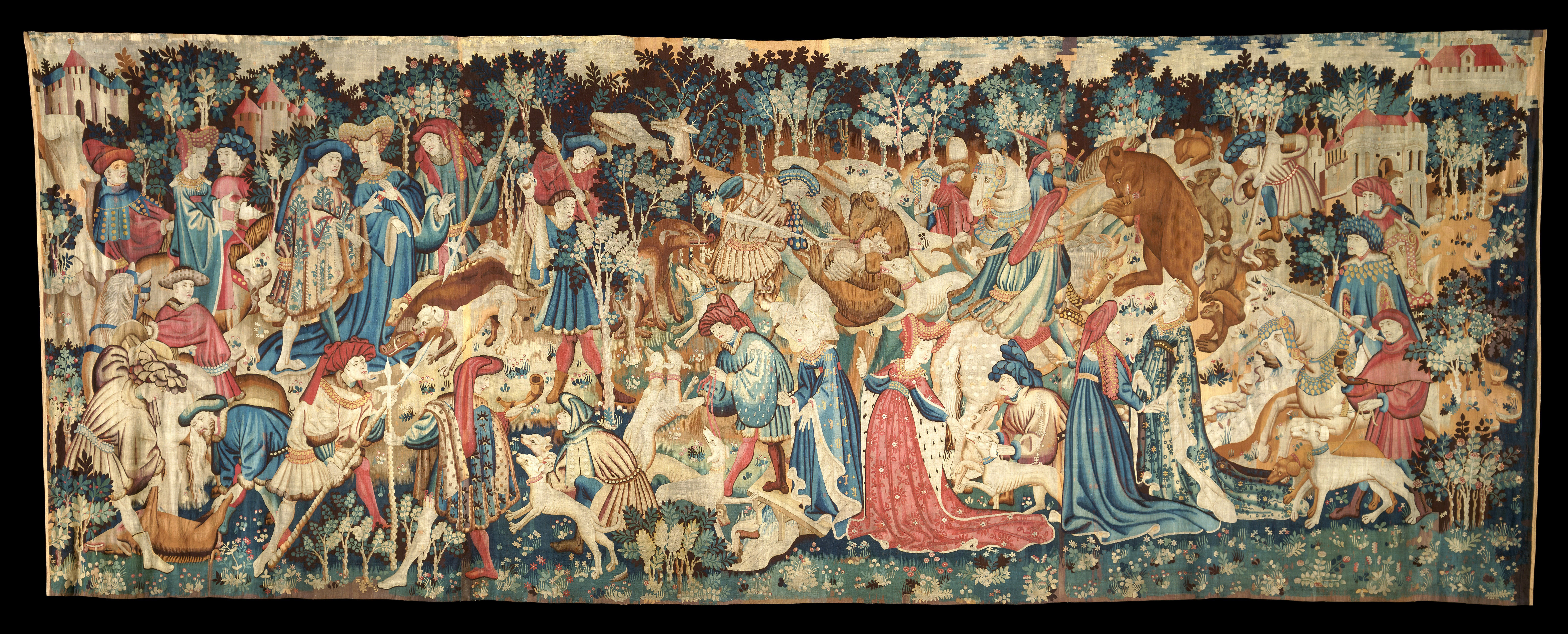 The devonshire hunting tapestries boar and bear hunt now for The devonshire