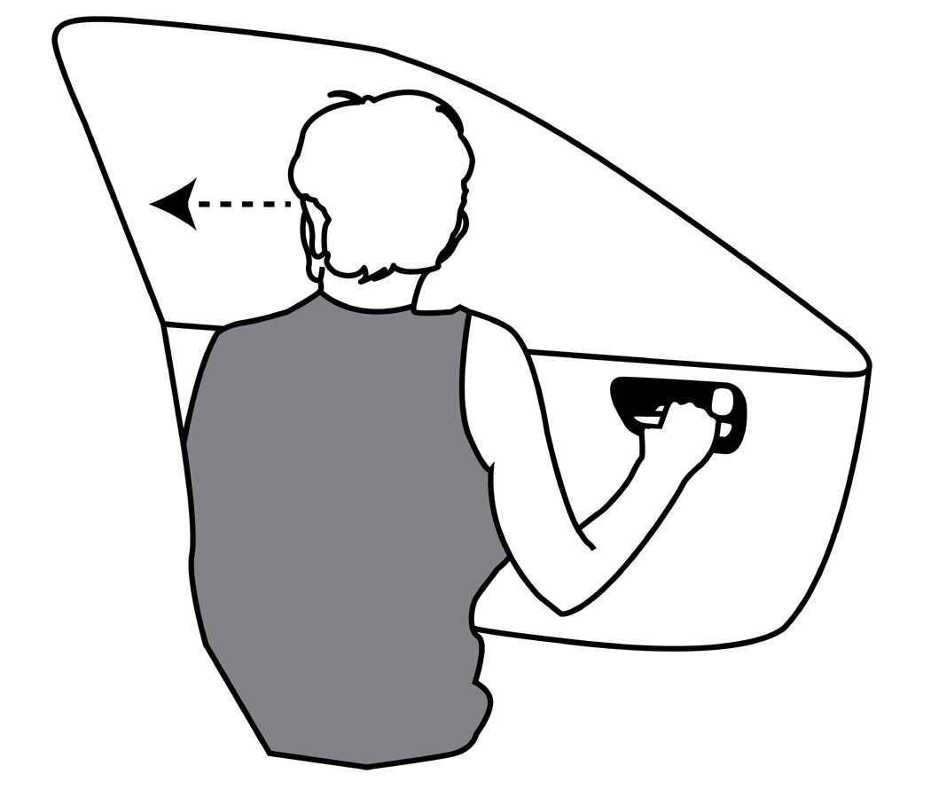 The Dutch Reach - Use far hand on handle when opening to avoid dooring cyclists or injuries to exiting drivers and passengers.png
