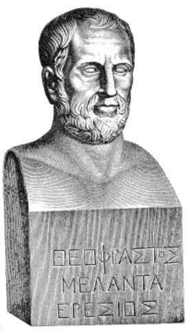 "The bust inscribed ""Theophrastos Melanta ..."