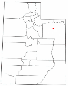 Location of Neola, Utah