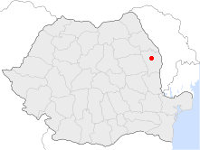 Location of Vaslui