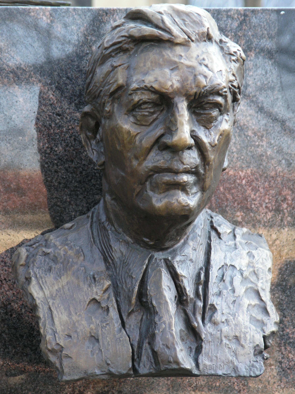 Bust of Přemysl Kočí at the [[Vyšehrad cemetery