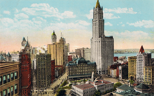 File Woolworth Building And City Hall Park New York City