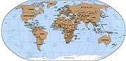 World map CIA small