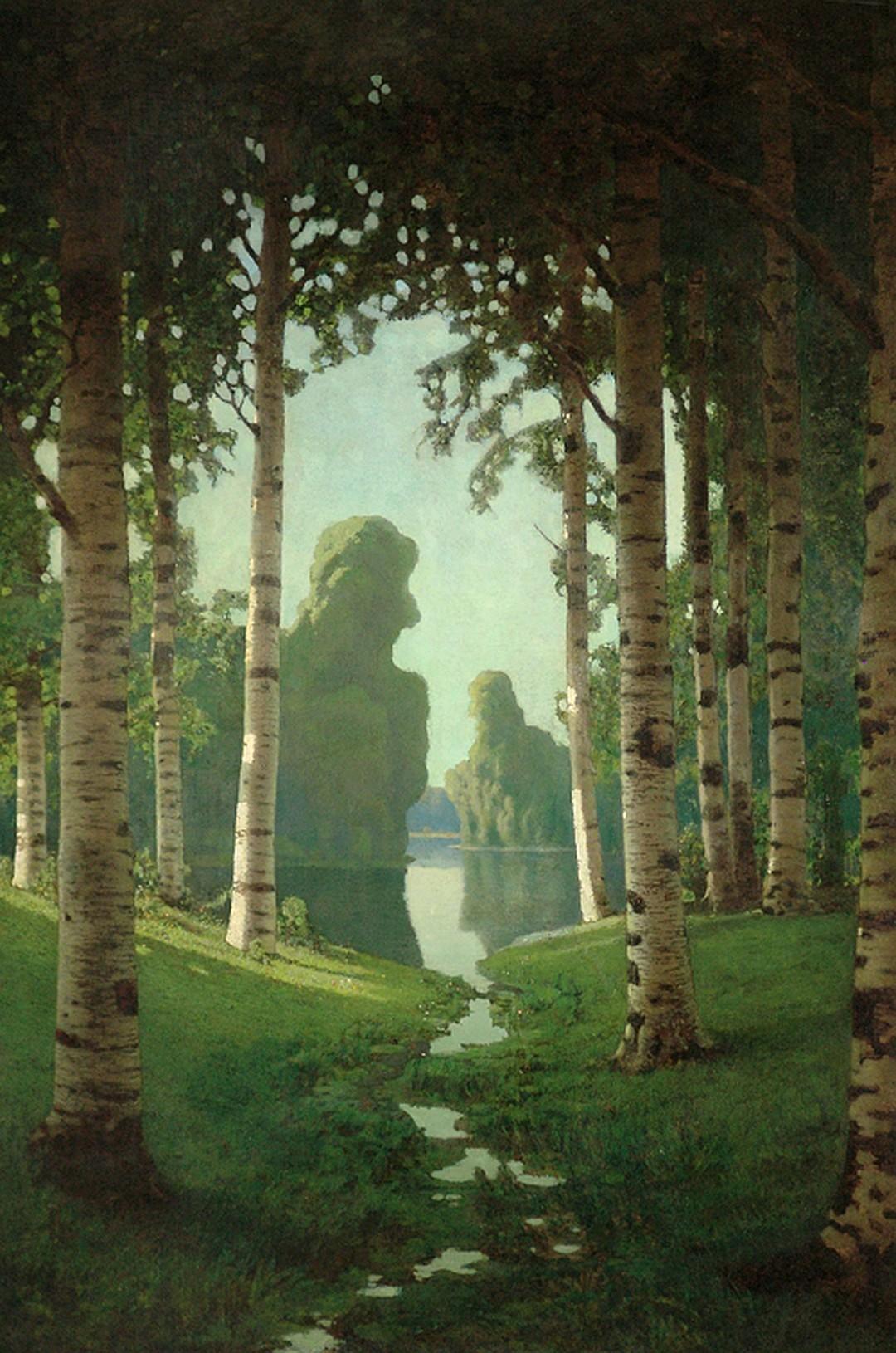Великие классические художники и картины разных времен _-_Березовая_роща_1901