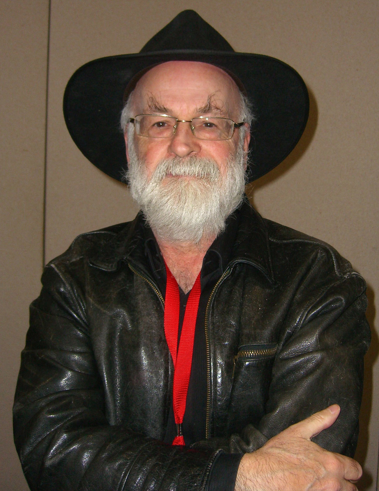 Pratchett at the 2012 [[New York Comic Con]]