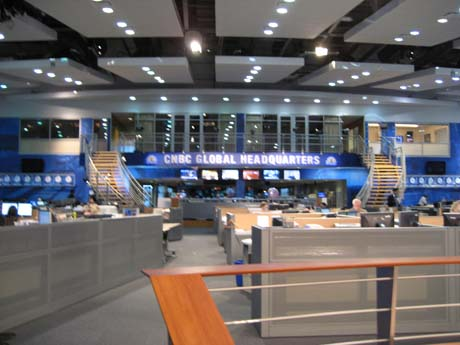 The newsroom at CNBC's New Jersey headquarters 111807g.jpg