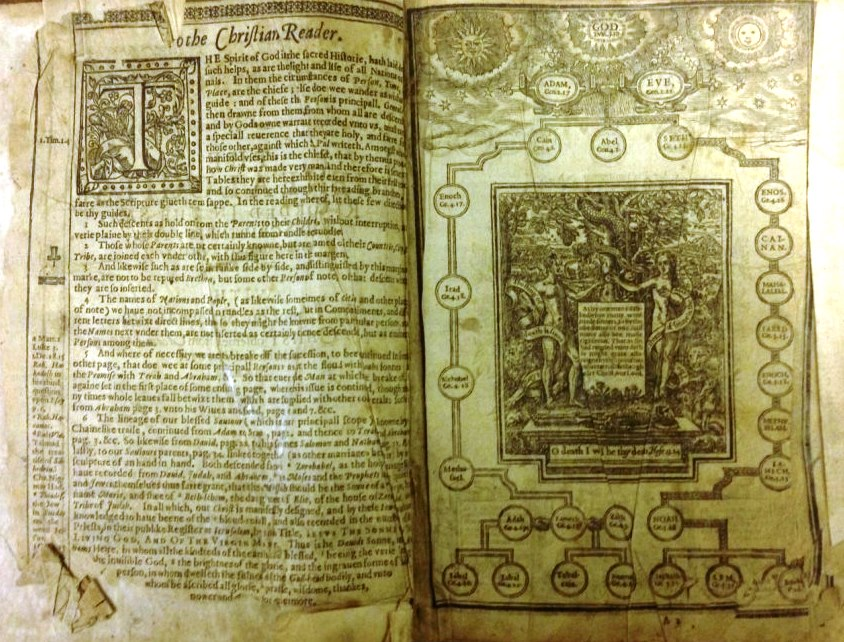 An image of a page from the King James Bible.