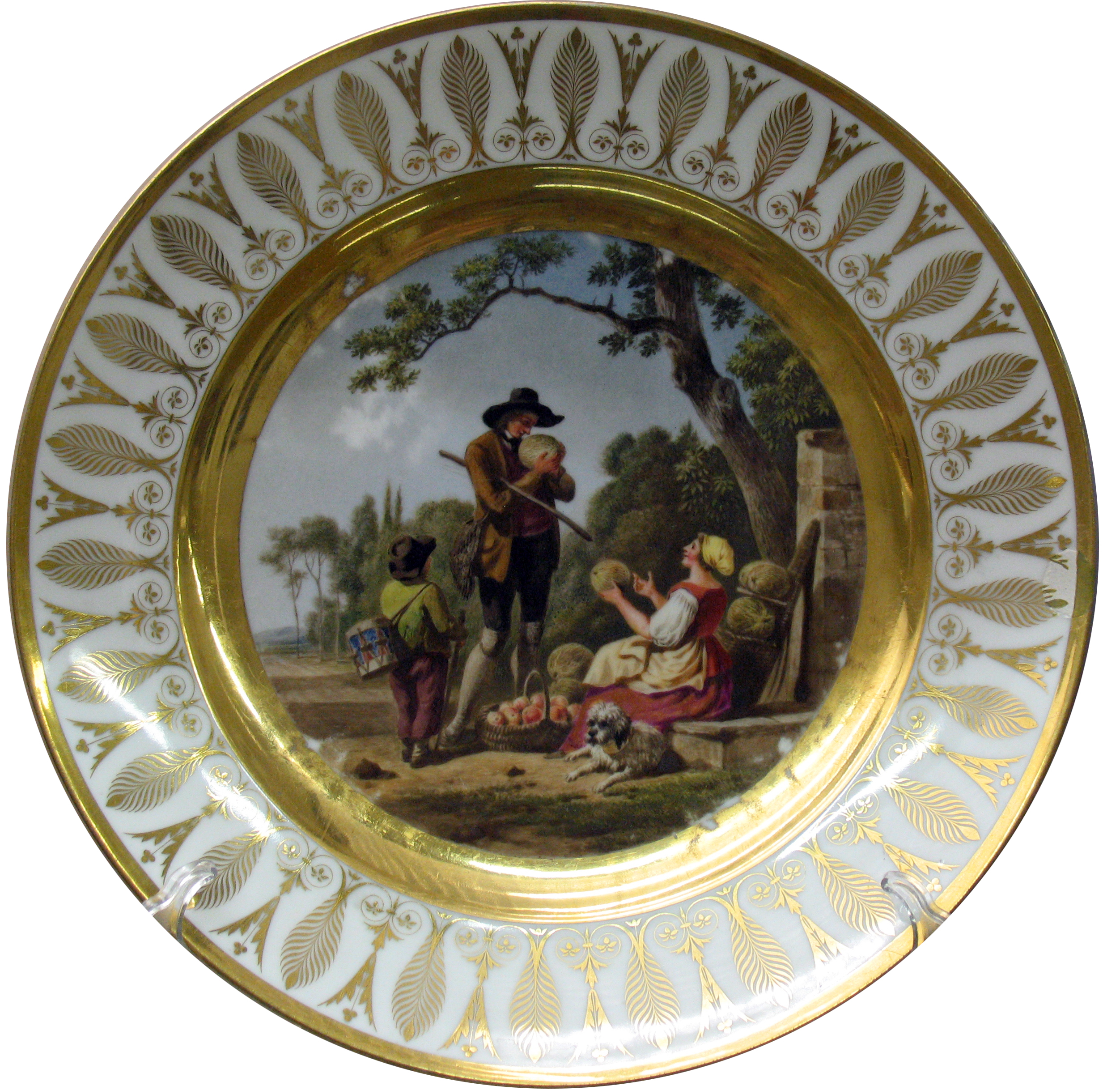 File 185x french decorative plate fruitseller wikimedia commons - Decoratieve platen ...