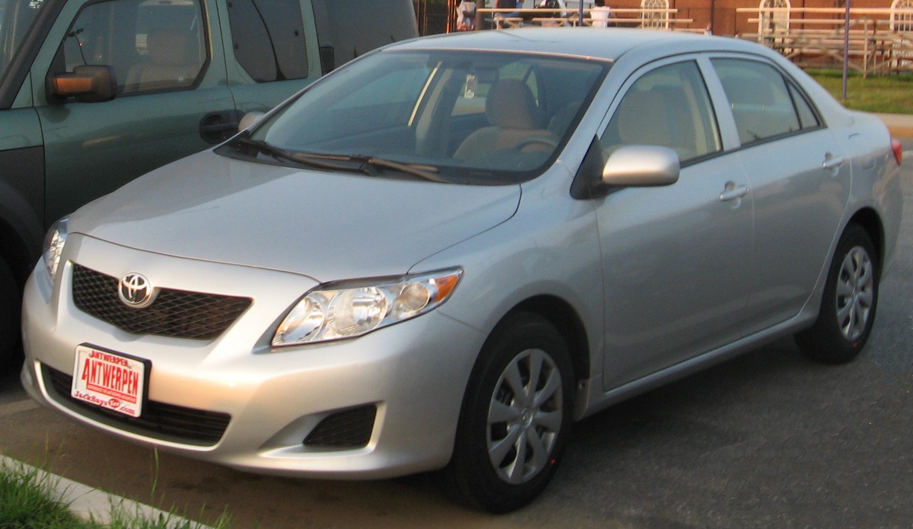 Toyota Corolla Size >> File:2009 Toyota Corolla LE.jpg - Wikimedia Commons