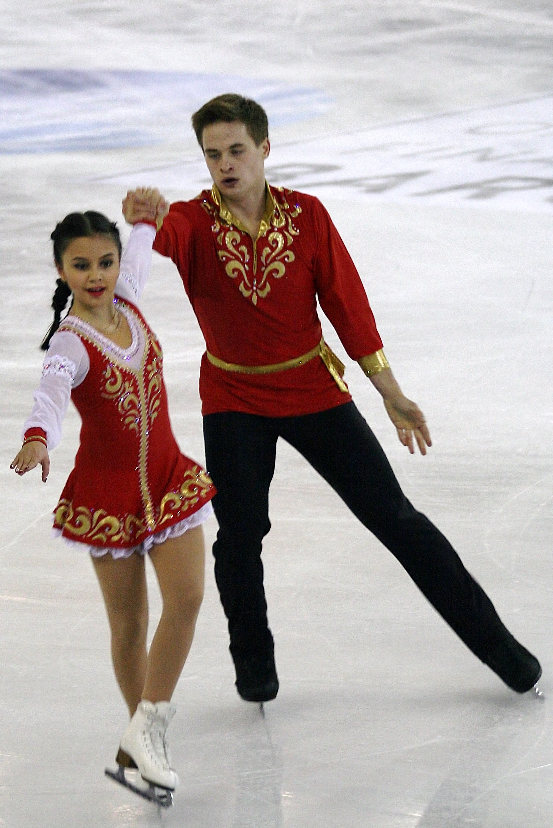 Александра Шевченко и Иван Бич 2014_ISU_Junior_Grand_Prix_Final_Lina_Fedorova_Maxim_Miroshkin_IMG_3055