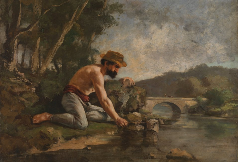 A Man Fishing