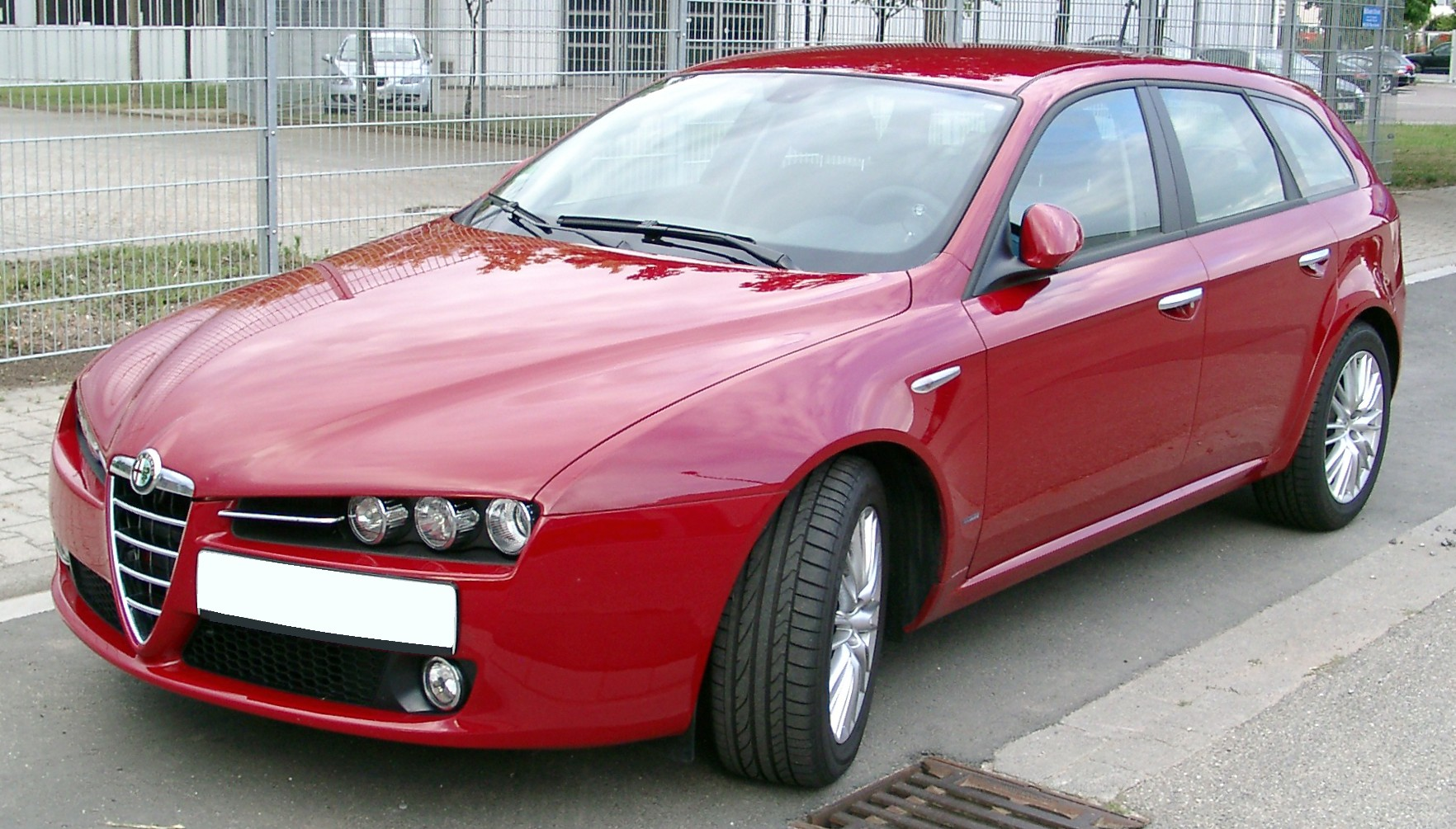 file alfa romeo 159 sw front wikimedia commons. Black Bedroom Furniture Sets. Home Design Ideas