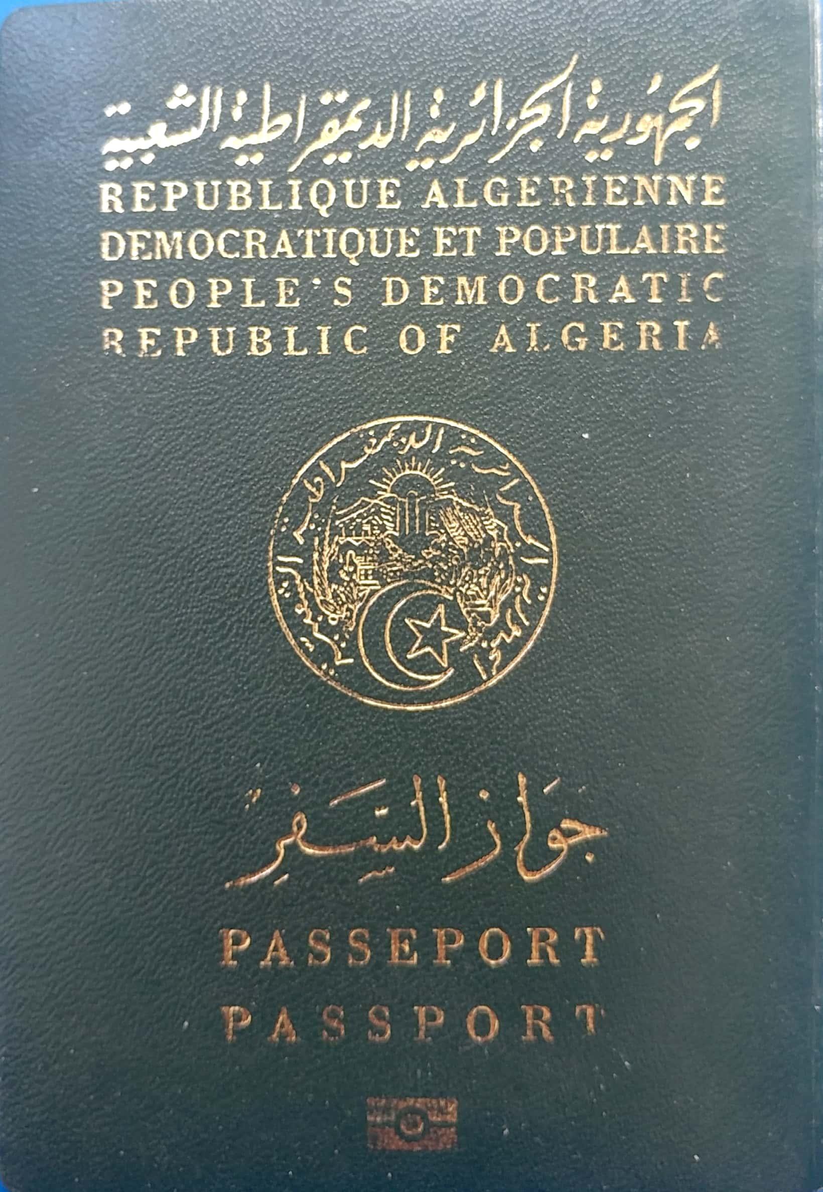Carte Identite Algerienne Validite.Passeport Algerien Wikipedia