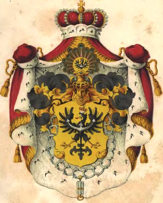Udostojniony herb Śląska z orderem rycerskiego zakonu Rudenband