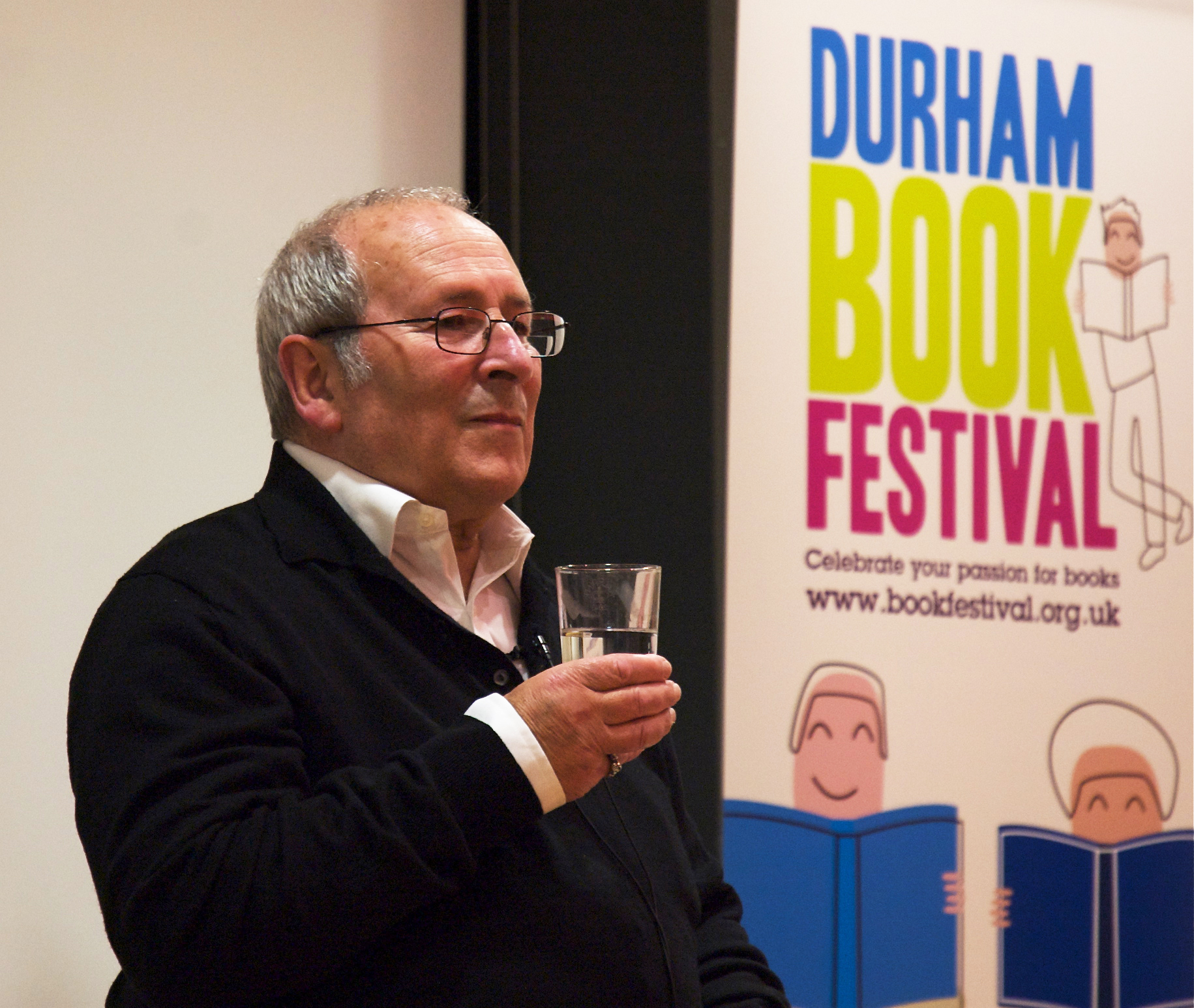 Wesker at the Durham Book Festival in 2008