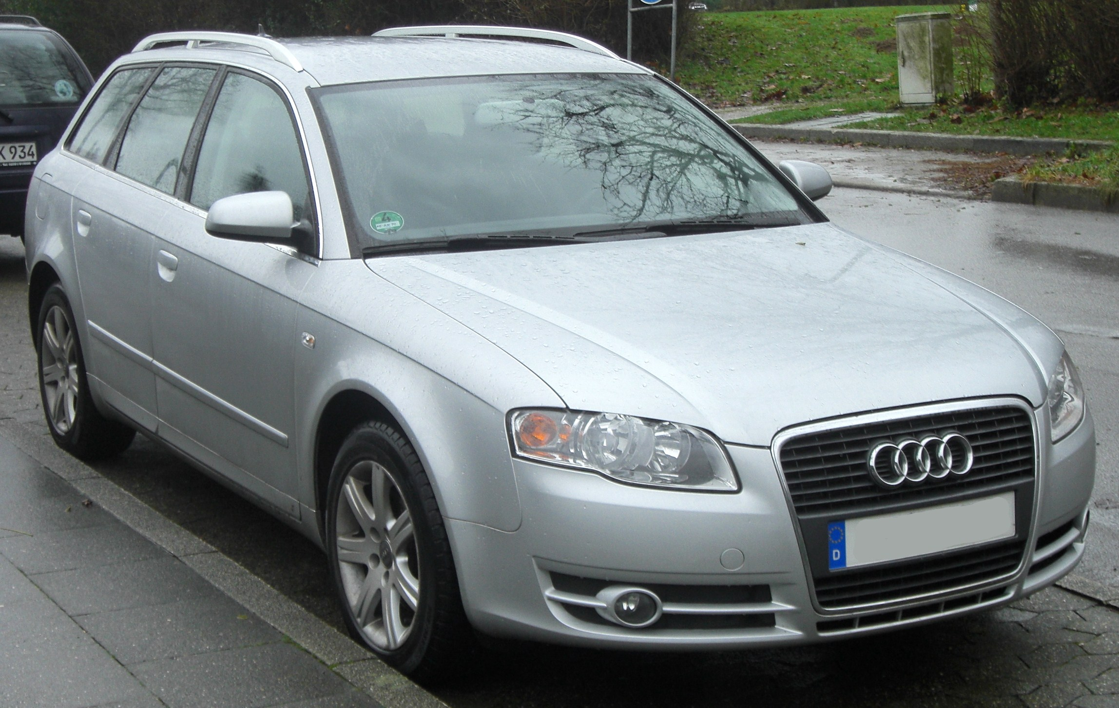 file audi a4 b7 avant facelift 2004 2008 2 0 tdi front mj jpg wikimedia commons. Black Bedroom Furniture Sets. Home Design Ideas