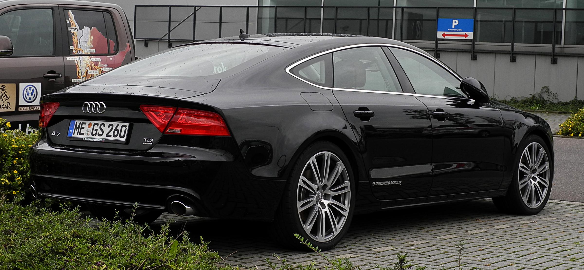 File Audi A7 Sportback 3 0 Tdi Quattro Heckansicht 1