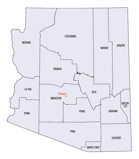 Arizona State Map Free.Outline Of Arizona Wikiwand