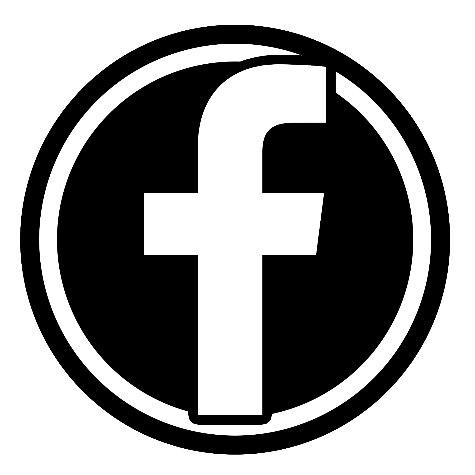Facebook Icon 2014 File b amp w facebook icon pngFacebook F Icon