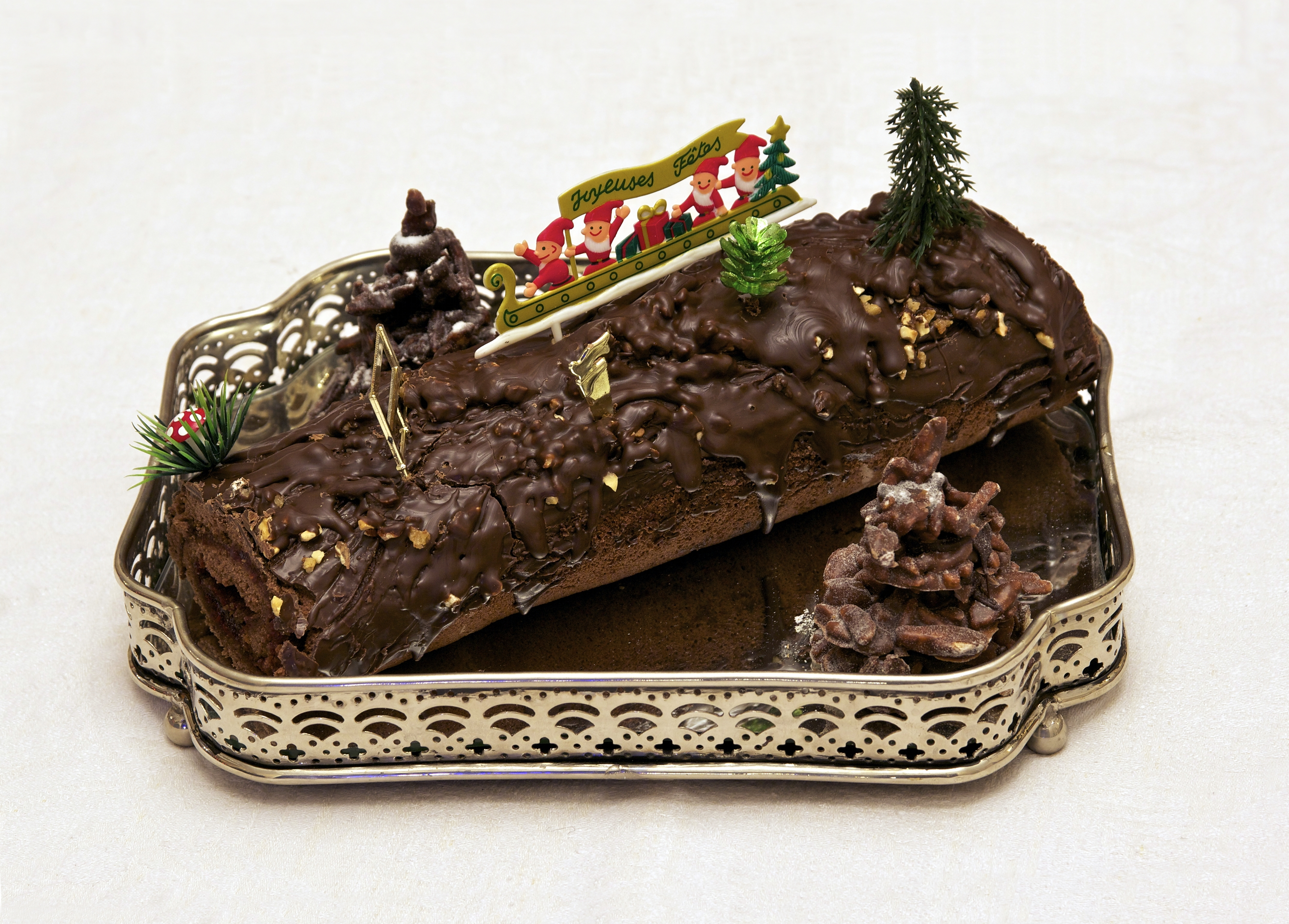 Menu Simple Repas De Noel.Yule Log Cake Wikipedia