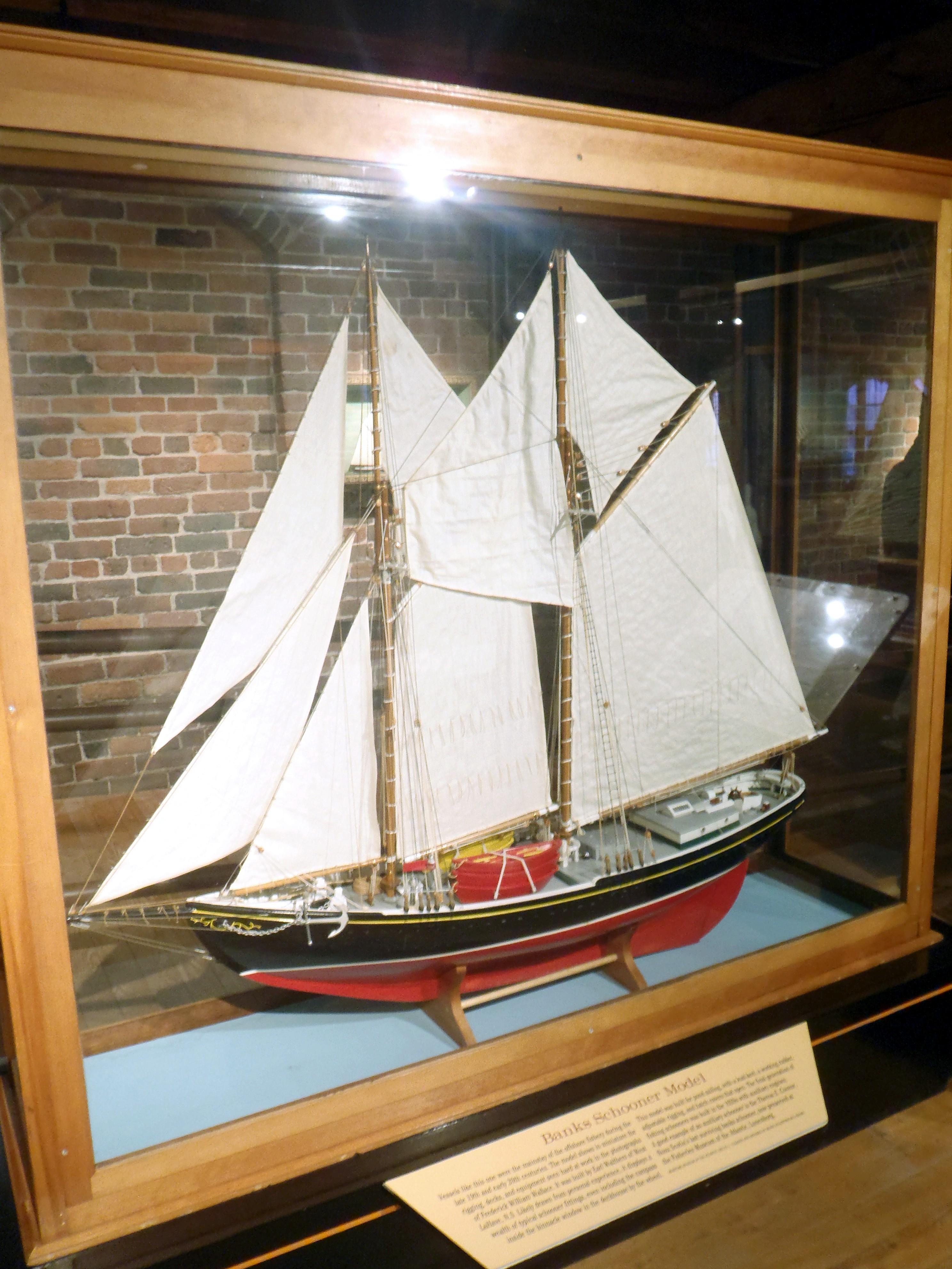File Banks Schooner Model Maritime Museum Of The Atlantic Halifax Nova Scotia Canada Jpg
