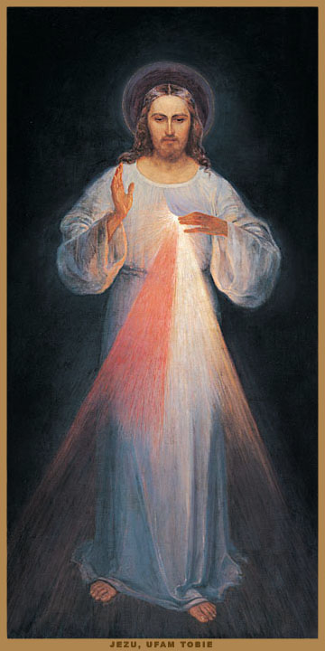 The original Image of the Divine Mercy, painted under the guidance of Saint Faustina Barmherziger Jesus.jpg