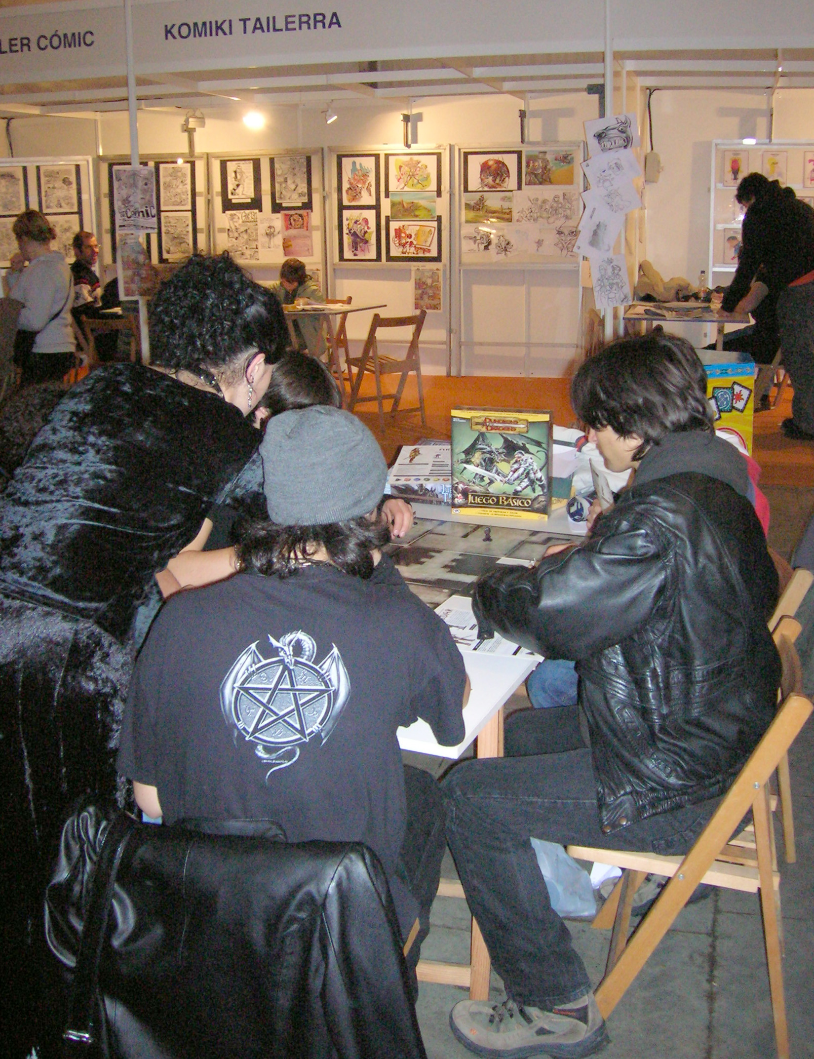 Dungeons & Dragons game in IV Getxo Comic Con.