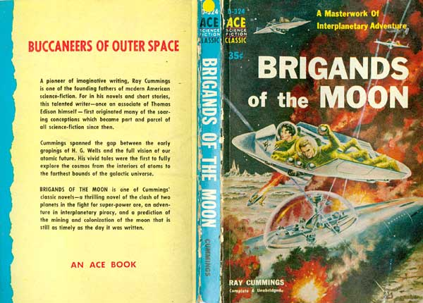 Book Cover Project : File brigands of the moon ray cummings book cover