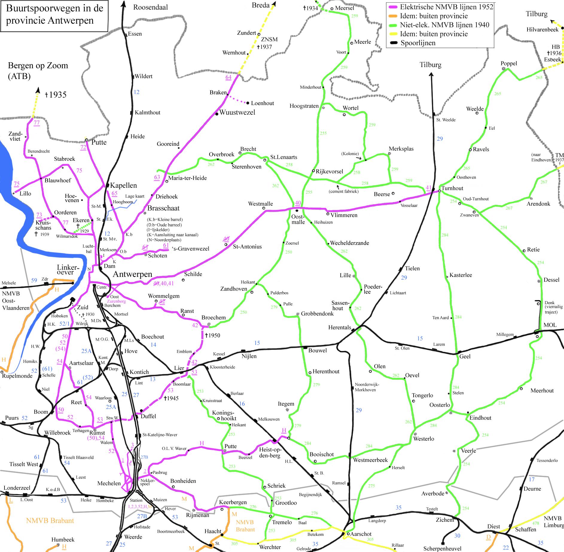 Buurtspoorwegen Van De Provincie Antwerpen Wikipedia