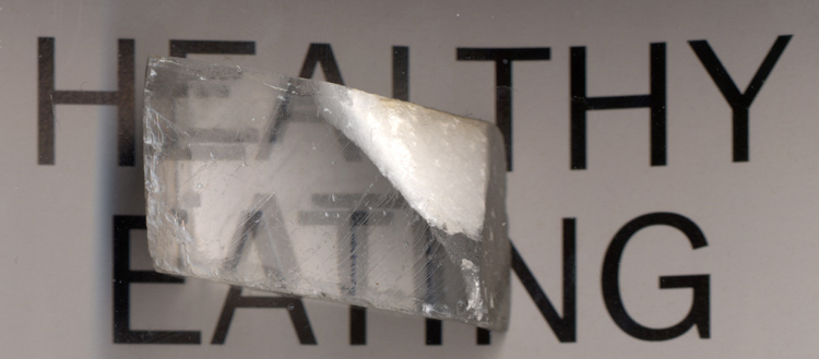 Iceland Spar/Optical Calcite showing refraction