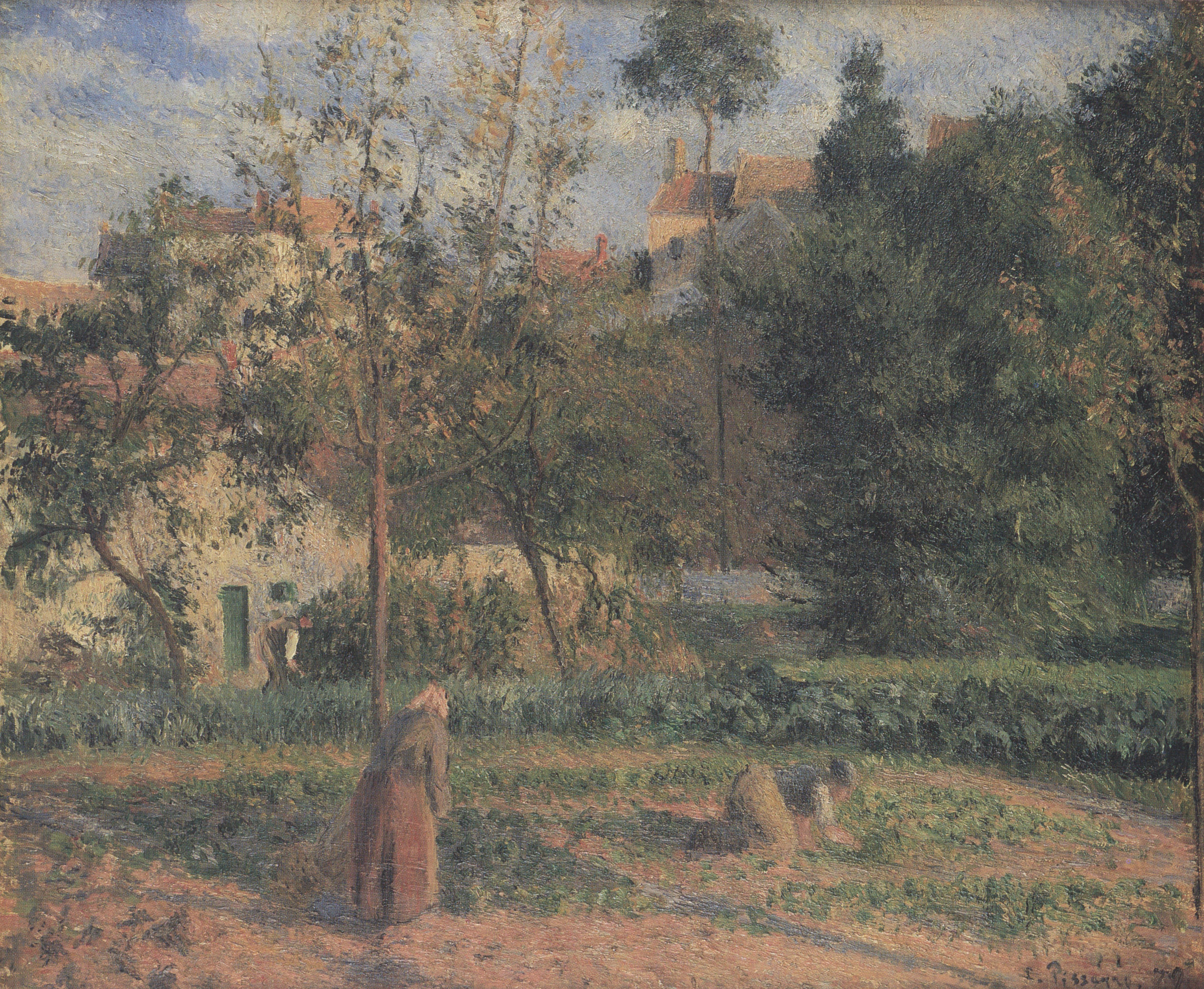 File Camille Pissarro La Jardin potager  L´Hermitage 1879