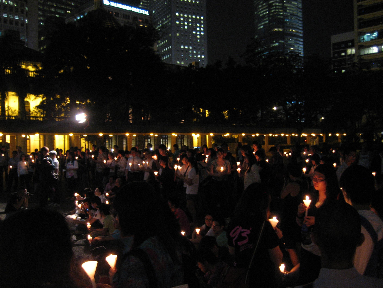 Comemorare publică în Chater Garden, Hong Kong, cu ocazia IDAHO