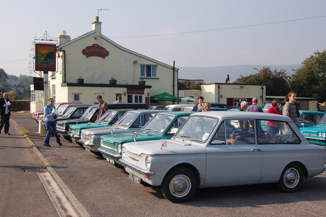 File:Car Rally at the Rising Sun in Pandy - geograph.org.uk - 973140.jpg