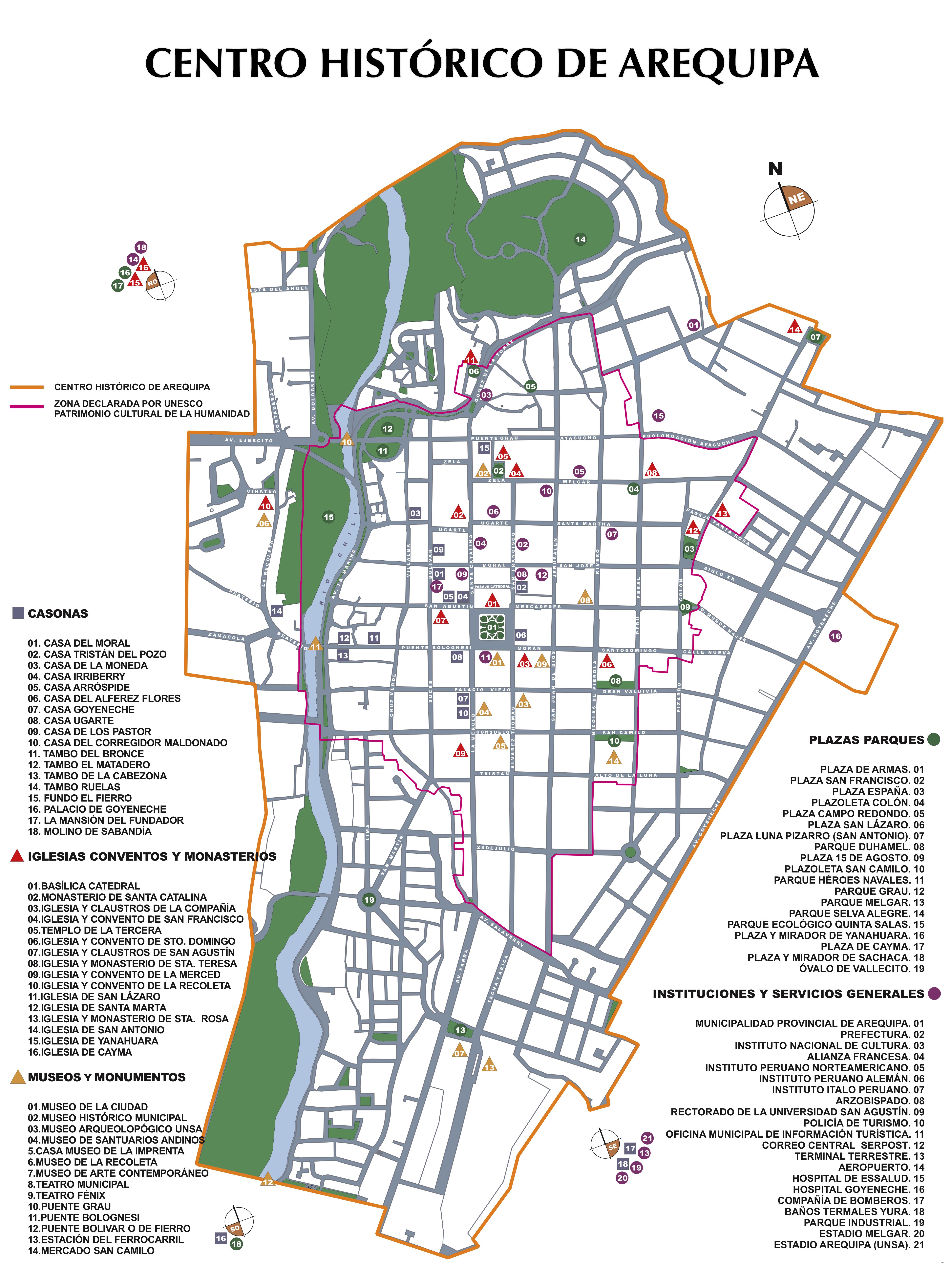 File Centro Hist 243 Rico De La Ciudad De Arequipa Mapa Png