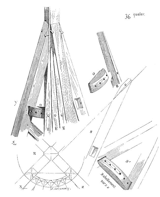 Plan charpente conique
