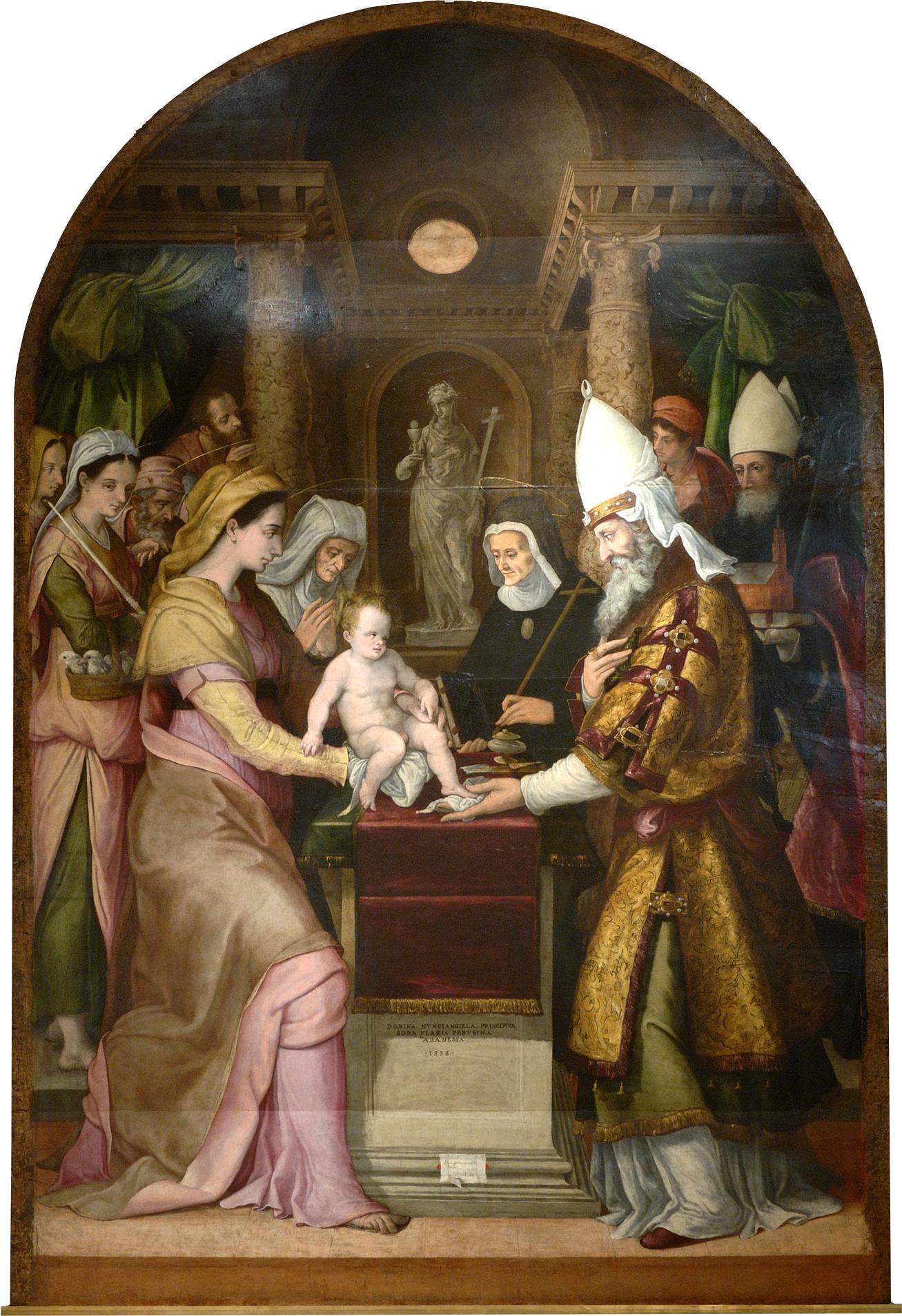 Circoncisione di Ges¹ Bambino Livio Agresti 1558 Museo Diocesano e Capitolare di Terni