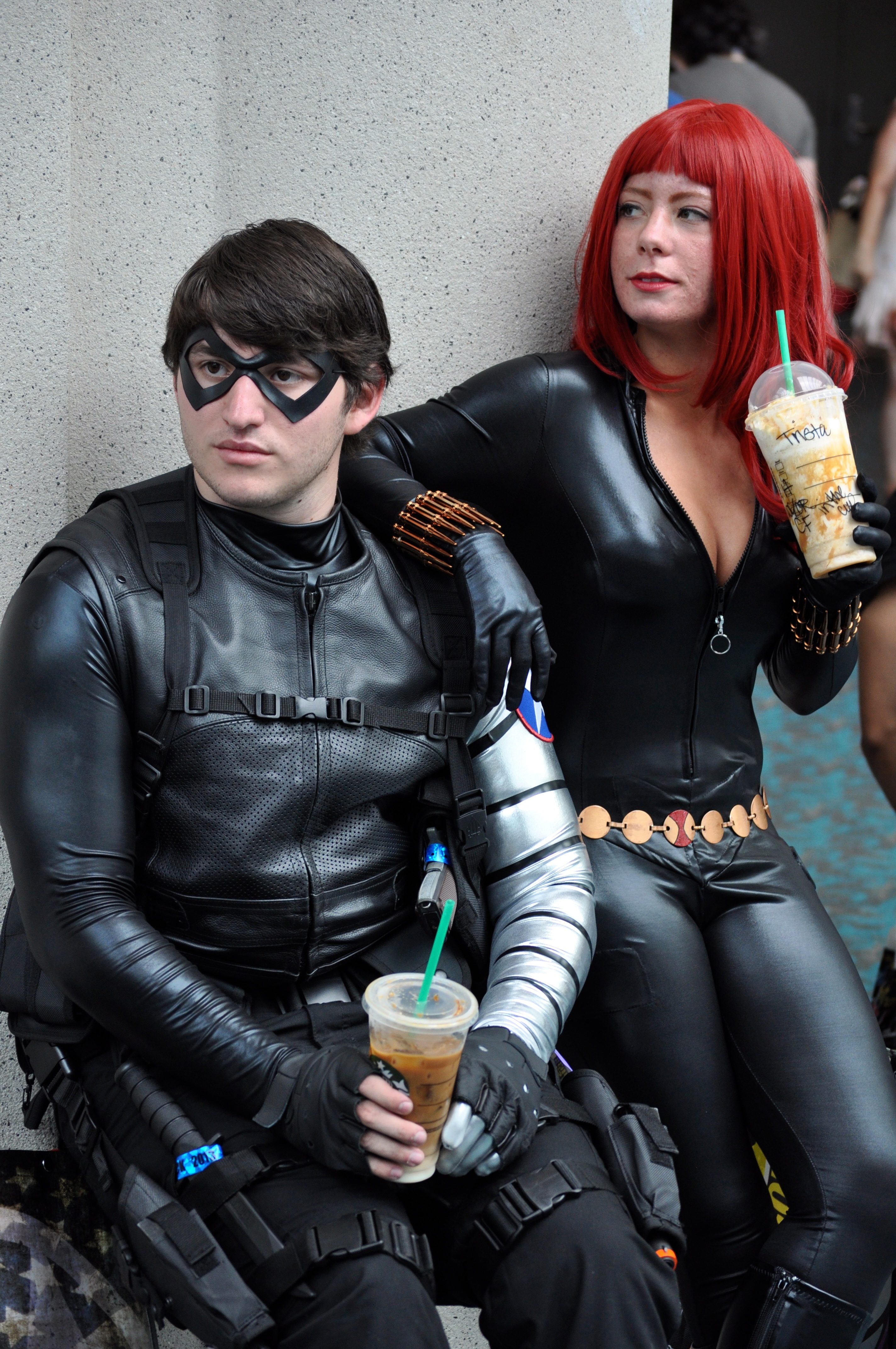 File Comic Con 2013 Winter Soldier And Black Widow 9335984158 Jpg Wikimedia Commons