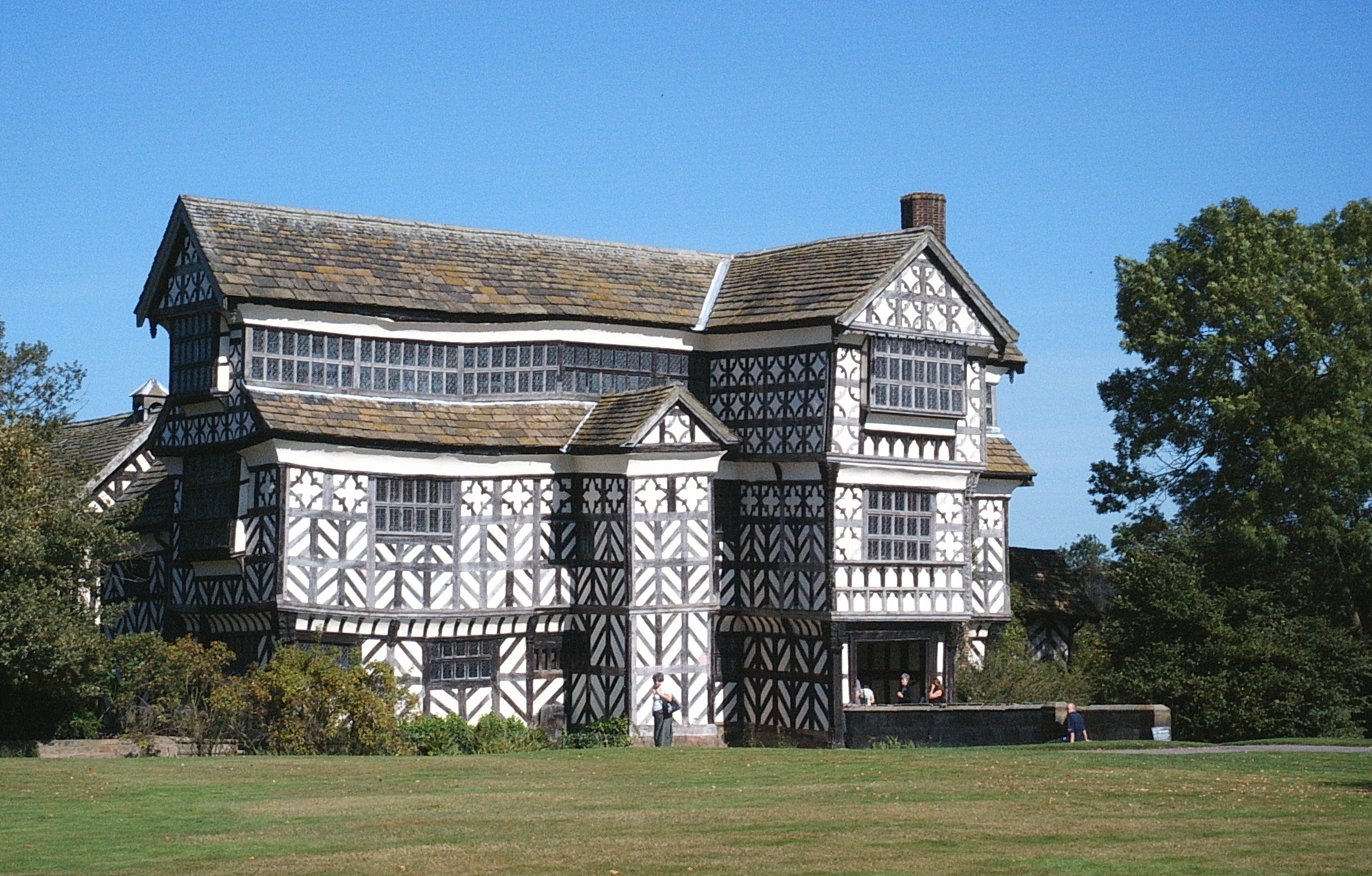Little Moreton Hall in Congleton, erbaut 1559