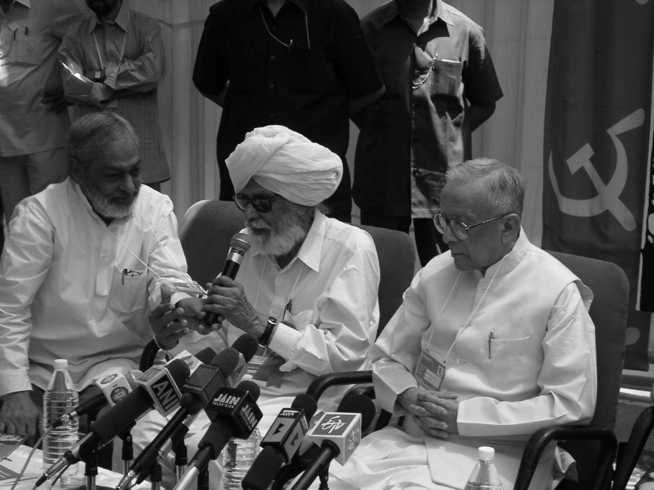 Harkishan Singh Surjeet and Jyoti Basu