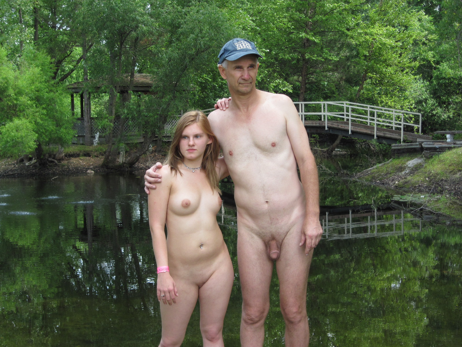 naked girls in front of their daddy