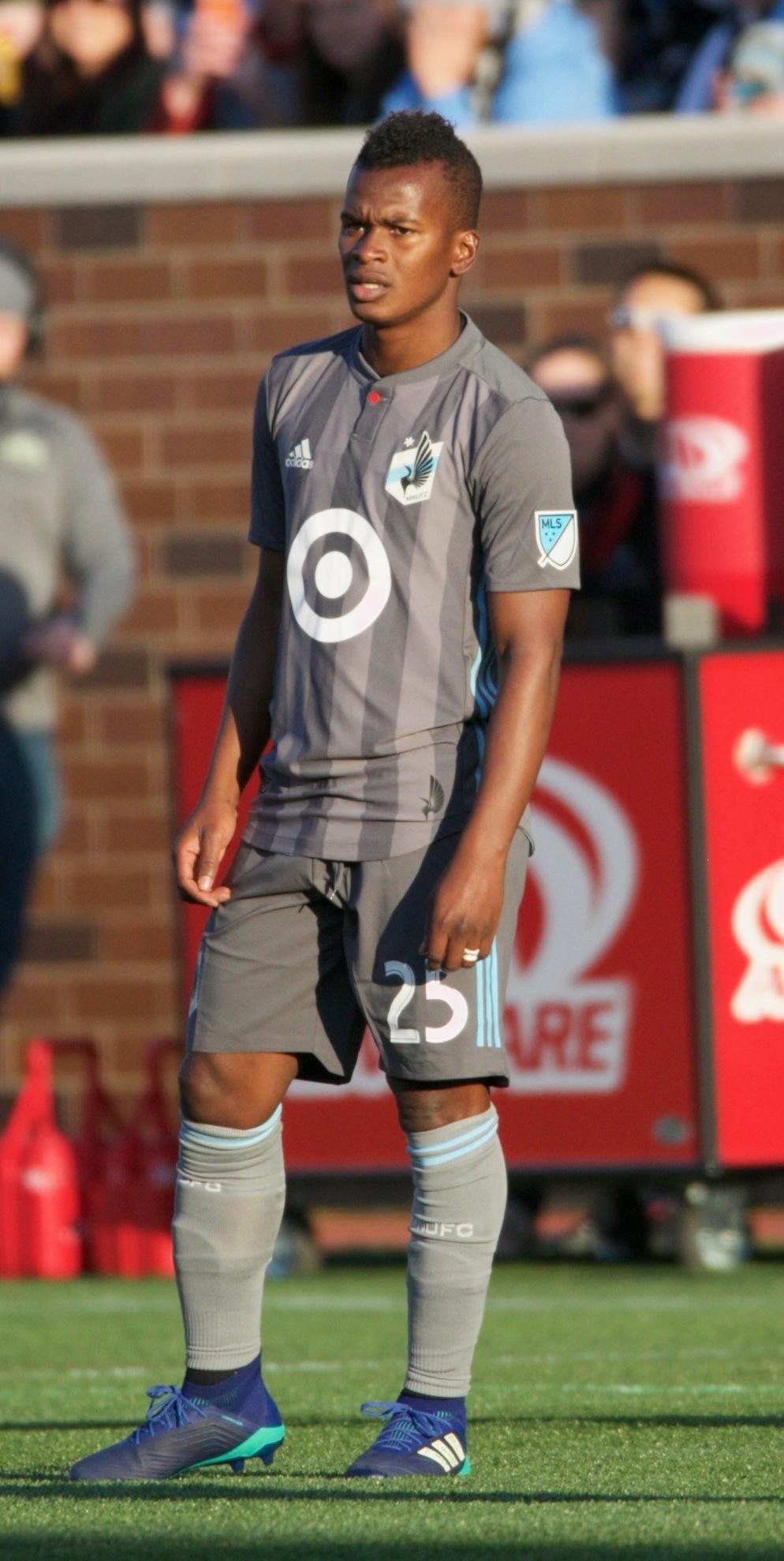 Quintero playing for [[Minnesota United FC|Minnesota United]] in 2018