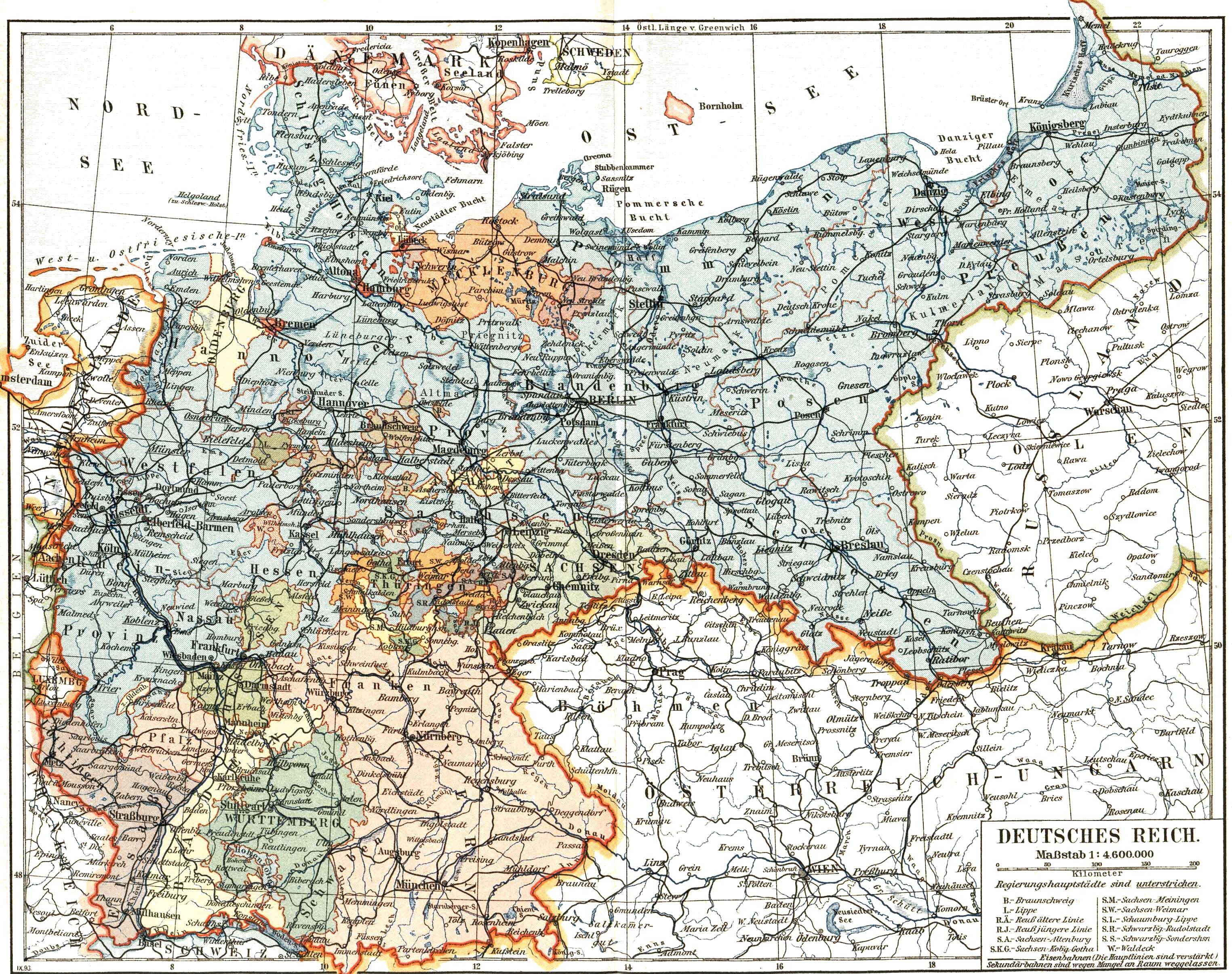 deutsches kaiserreich karte File:Deutsches Kaiserreich 1893.   Wikimedia Commons