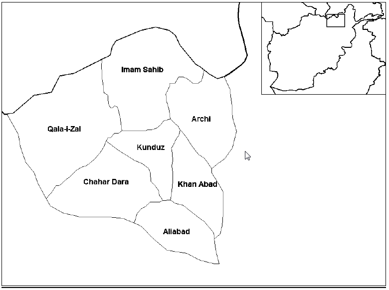 Districts of Kunduz Province -a
