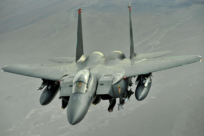 Depiction of McDonnell Douglas F-15E Strike Eagle