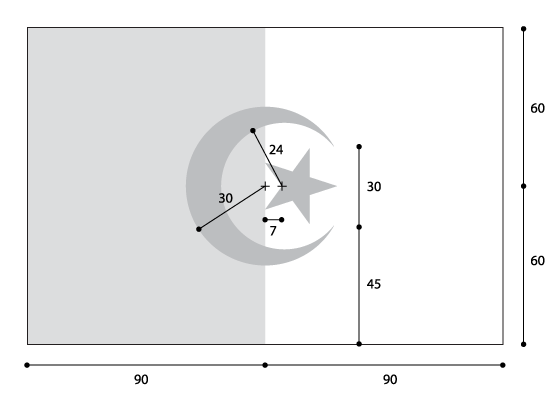 العلم الجزائري عبر التاريخ Flag_of_Algeria_(construction).png