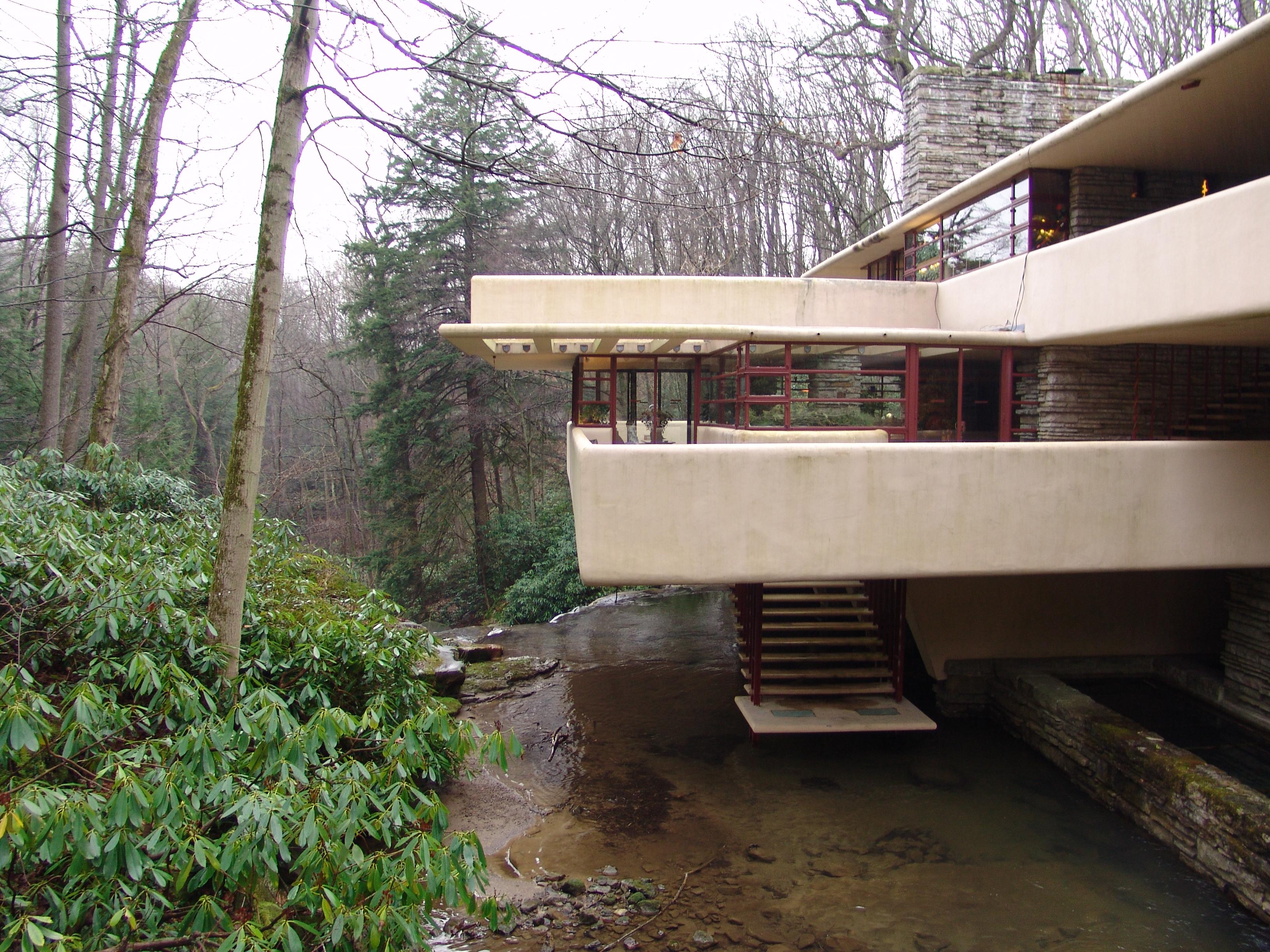 File frank lloyd wright fallingwater exterior 3 jpg for Architettura wright