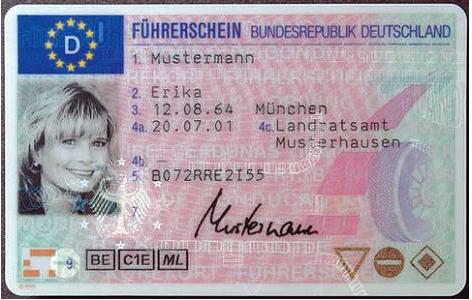 Fuehrerschein Mustermann 2001